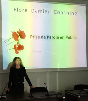 Flore Damien, prise de parole en public